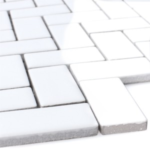 Mosaic Tiles Ceramic Casillas White Glossy