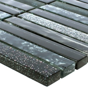 Glass Mosaic Kairo Black Glitter