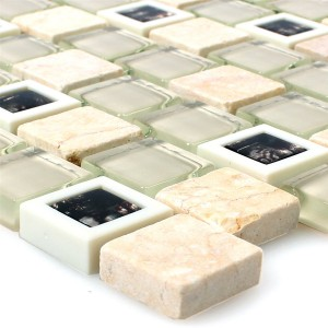 Glass Plastic Natural Stone Mosaic Historico Beige Mix
