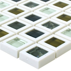 Glass Plastic Mosaic Anatolia Green White