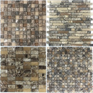 Mosaic Tiles Glass Marble Castano
