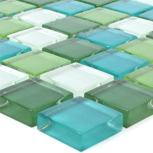 Mosaic Tiles Glass Palmas Green White