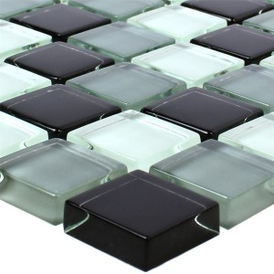 Mosaic Tiles Glass Palmas Black Mix