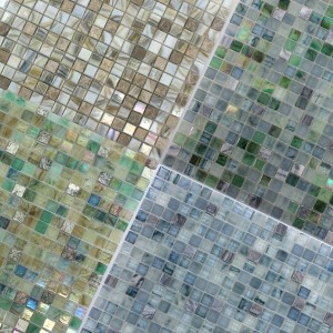 Mosaic Tiles Glass Marble Mix Pipeline