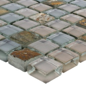 Mosaic Tiles Marble Java Glassmix Apollo Brown 15