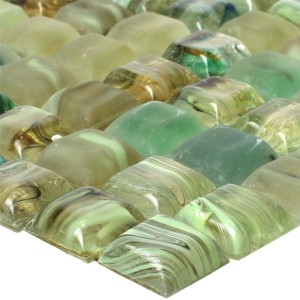 Glass Swimming Pool Mosaic Tiles Pergamon Green