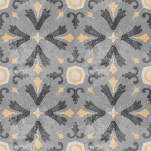 Cement Tiles Retro Optic Gris Floor Tiles Juan 18,6x18,6cm