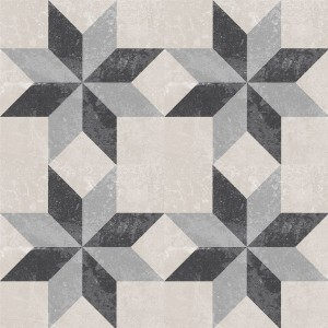 Cement Tiles Retro Optic Gris Floor Tiles Martinez 18,6x18,6cm