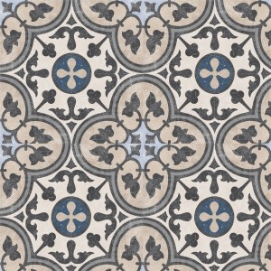 Cement Tiles Retro Optic Gris Floor Tiles Luisa 18,6x18,6cm