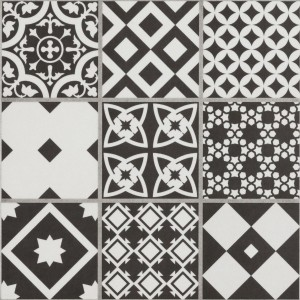 Cement Tiles Optic Casino Floor Tiles Tenerani Black