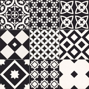 Cement Tiles Optic Casino Floor Tiles Giotto Black