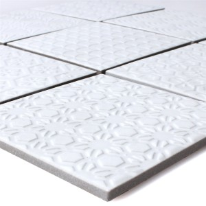 Mosaic Tiles Ceramic Istria White
