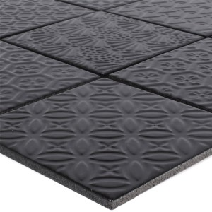 Mosaic Tiles Ceramic Istria Black