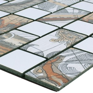 Mosaic Tiles Metal Self Adhesive Pinta  Silver Rectangle