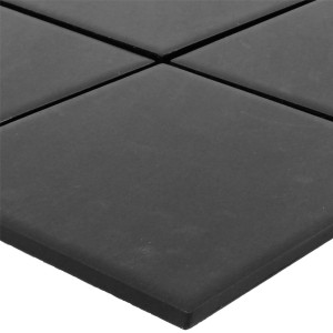SAMPLE Mosaic Tiles Ceramic Colina Black Unglazed R10