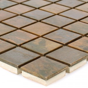 Metal Copper Mosaic Tiles Myron Square