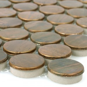 Metal Copper Mosaic Tiles Myron Button