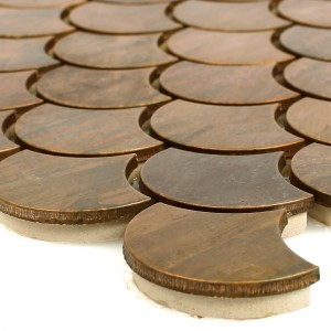 Metal Copper Mosaic Tiles Myron Scale Form