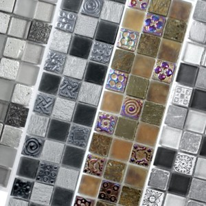 Mosaic Tiles Los Angeles Glass Natural Stone Mix