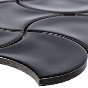 Ceramic Mosaic Tiles Toledo Wave Black