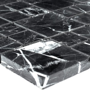 Mosaic Tiles Marble Elegance Black Polished