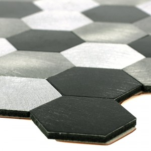 Mosaic Tiles Self Adhesive Tanana Black Grey