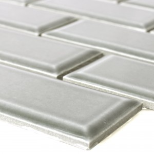 Ceramic Mosaic Tiles Devon Metro Facet Light Grey