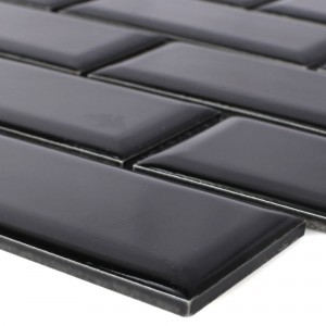 Ceramic Mosaic Tiles Devon Metro Facet Black