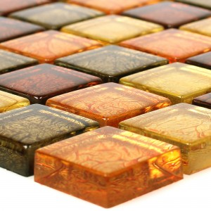 Glass Mosaic Tiles Curlew Yellow Orange 23