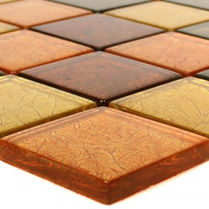 Glass Mosaic Tiles Curlew Yellow Orange 48
