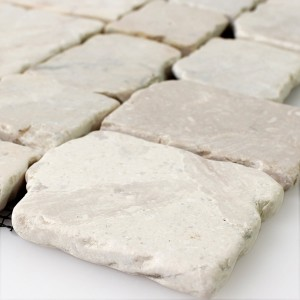 SAMPLE Mosaic Tiles Natural Stone Cream Drummed