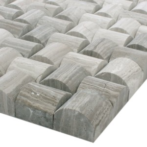 SAMPLE Mosaic Tiles Natural Stone Everest 3D Grey