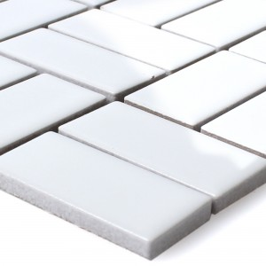 SAMPLE Mosaic Tiles Ceramic Cristianos White Glossy