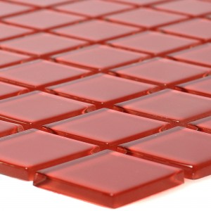 Glass Mosaic Tiles Florida Red