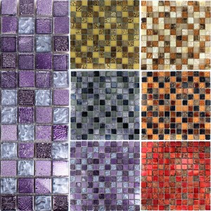 Mosaic Tiles Roybon Glass Natural Mix