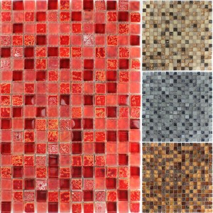 Mosaic Tiles Escimo Glass Natural Stone
