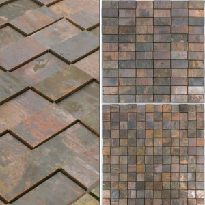 Mosaic Tiles Copper Santorini 3D