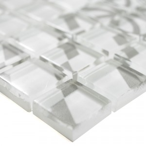 Glass Mosaic Retro Tiles Noya Vintage Grey