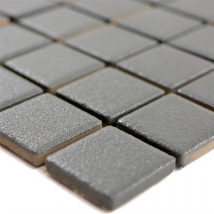 Ceramic Mosaic Tiles Shalin Non-Slip R10 Grey Q25