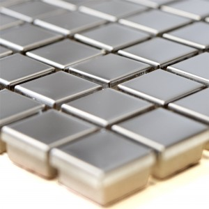 Stainless Steel Mosaic Tiles Magnet Glossy Square 15