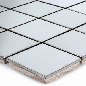 Stainless Steel Mosaic Tiles Magnet Glossy Square 48