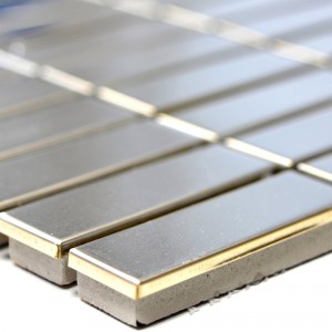 Stainless Steel Mosaic Tiles Magnet Glossy Sticks