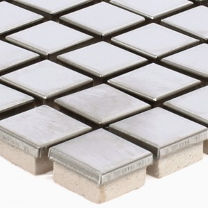 Stainless Steel Mosaic Tiles Magnet Brushed Square 15