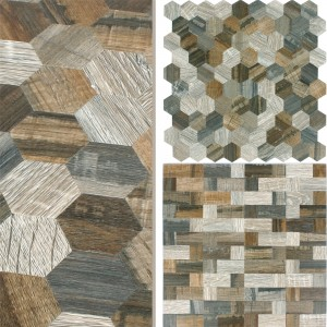 Mosaic Tiles Wood Optic Metal Self Adhesive Morelia