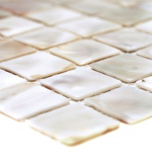 SAMPLE Mosaic Tiles Nacre Xenia White