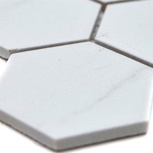 Ceramic Mosaic Tiles Zyrus Carrara Hexagon 51