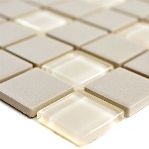 Mosaic Tiles Unglazed Garden Light Beige Square