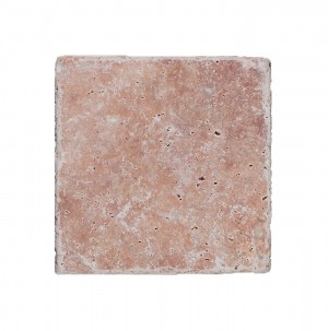 SAMPLE Natural Stone Tiles Travertine Usantos Rosso 30,5x30,5cm