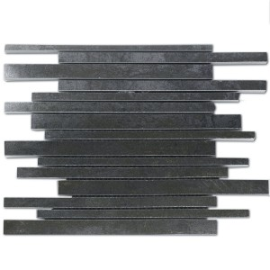 Mosaic Tiles Metal Optic Oxido Silver Sticks