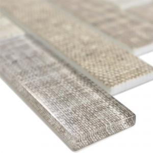 Glass Mosaic Tiles Lyonel Textile Optic Brick Beige